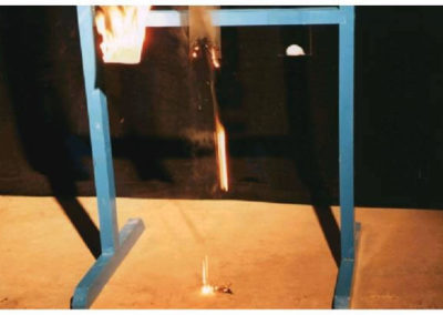 Flammability test - PET